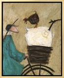 Taking the Girls Home Framed Canvas Print by Sam Toft