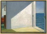 Rooms by the Sea Framed Canvas Print by Edward Hopper