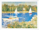 Bassin d'Argenteuil, c.1874 Framed Canvas Print by Claude Monet