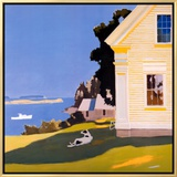 Island Farmhouse, 1969 Framed Canvas Print by Fairfield Porter