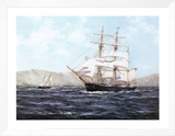 The Barque Annie Johnson Framed Canvas Print by Henry Scott