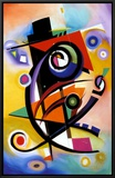 Homage to Kandinsky Framed Canvas Print by Alfred Gockel