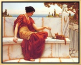 Time to Play Framed Canvas Print by John William Godward