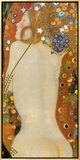 Sea Serpents IV, c.1907 Framed Canvas Print by Gustav Klimt