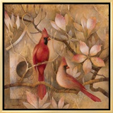 Elegance in Red I Framed Canvas Print by Elaine Vollherbst-Lane