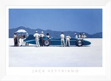 Bluebird at Bonneville Framed Canvas Print by Jack Vettriano