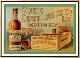 Cork Distilleries Co. Ltd. Whisky Framed Canvas Print