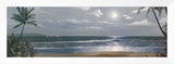 Moonlit Paradise II Framed Canvas Print by Paul Geatches