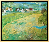 Sunny Meadow in Arles, c.1890 Framed Canvas Print by Vincent van Gogh