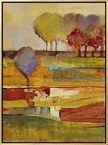 Bright Landscape I Framed Canvas Print by  Georgie