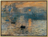 Impression, Sunrise, c.1872 Framed Canvas Print by Claude Monet