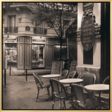 Café, Montmartre Framed Canvas Print by Alan Blaustein