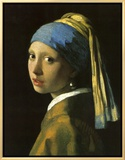 Girl with Pearl Earring Framed Canvas Print by Jan Vermeer