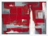 Red Abstract Framed Canvas Print by Leigh Banks