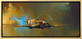 Spitfire Framed Canvas Print by Barrie A F Clark