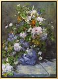 Grande Vaso di Fiori Framed Canvas Print by Pierre-Auguste Renoir
