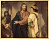 Christ and the Rich Young Ruler Framed Canvas Print by Heinrich Hofmann