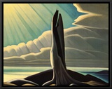 North Shore, Lake Superior Framed Canvas Print by Lawren S. Harris