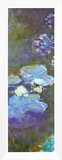 Water Lilies and Agapanthus (detail) Framed Canvas Print by Claude Monet