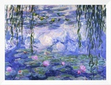 Water Lilies (Nymphéas), c.1916 Framed Canvas Print by Claude Monet