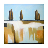 Cypress Trees Giclee Print by Ana Bianchi
