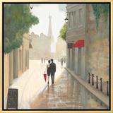Paris Romance I Framed Canvas Print by Marco Fabiano