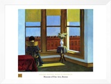 Room In Brooklyn Framed Canvas Print by Edward Hopper
