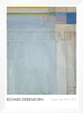 Ocean Park 54, 1972 Framed Canvas Print by Richard Diebenkorn
