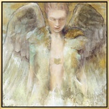 Guardian Angel Framed Canvas Print by Elvira Amrhein
