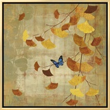 Ginkgo Branch II Framed Canvas Print by Asia Jensen