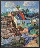 Houses at Auvers, c.1890 Framed Canvas Print by Vincent van Gogh