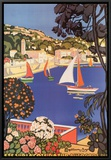 Cote d'Azur Framed Canvas Print