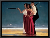 The Missing Man I Framed Canvas Print by Jack Vettriano