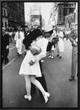 V-J Day in Times Square Framed Canvas Print by Alfred Eisenstaedt