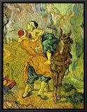 The Good Samaritan Framed Canvas Print by Vincent van Gogh