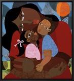 Mother's Love Framed Canvas Print by Evita Tezeno
