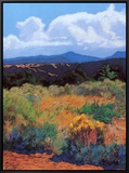 Distant Hills Framed Canvas Print by Mary Silverwood