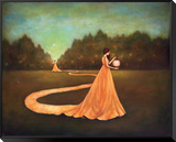 Unwinding the Path to Self-Discovery Framed Canvas Print by Duy Huynh