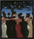 Waltzers Framed Canvas Print by Jack Vettriano