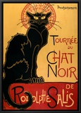 Tournée du Chat Noir, c.1896 Framed Canvas Print by Théophile Alexandre Steinlen