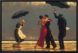 The Singing Butler Framed Canvas Print by Jack Vettriano