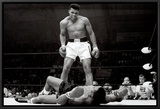 Muhammad Ali vs. Sonny Liston Framed Canvas Print