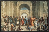The School of Athens, c.1511 (detail) Framed Canvas Print by  Raphael