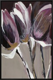 Aubergine Splendor I Framed Canvas Print by Angela Maritz