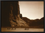 Navajos, Canyon De Chelly, c.1904 Framed Canvas Print by Edward S. Curtis