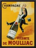 Champagne Framed Canvas Print