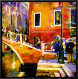 Ponte Veneziano II Framed Canvas Print by Oana Lauric