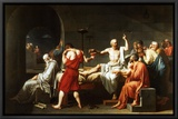 The Death of Socrates, c.1787 Framed Canvas Print by Jacques-Louis David