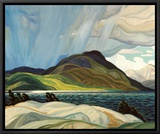 Lake Wabagishik Framed Canvas Print by Franklin Carmichael