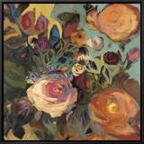 Rose Garden II Framed Canvas Print by Jennifer Harwood